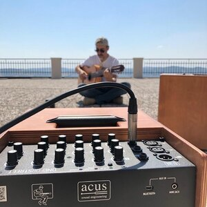 Nico Di Battista 🎸play with new Acus OneForStreet 8 🎶 in our Office in Recanati 🤩#acusamp #acusamps #oneforstreet #oneforstreet8 #newoneforstreet #acussoundengineering